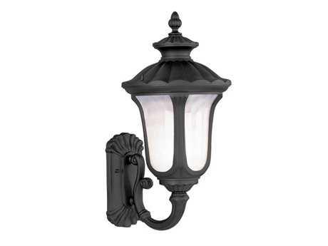 Livex Lighting Oxford Black Three-Light Outdoor Wall Light