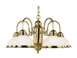 Livex Lighting Home Antique Brass Basics Five-Light 23'' Wide Chandelier