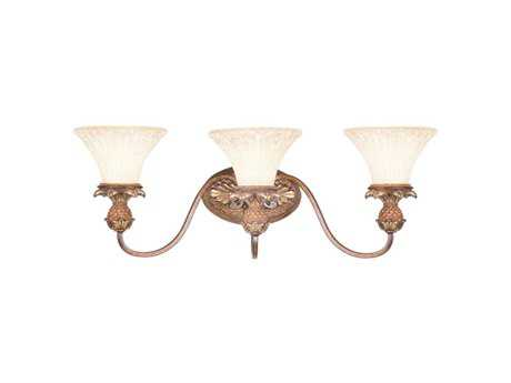 Livex Lighting Savannah Venetian Patina Three-Light Vanity Light