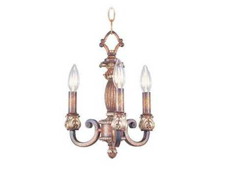 Livex Lighting Savannah Venetian Patina Three-Light 11'' Wide Chandelier
