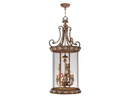 Livex Lighting Savannah Venetian Patina Nine-Light 21'' Wide Pendant Light