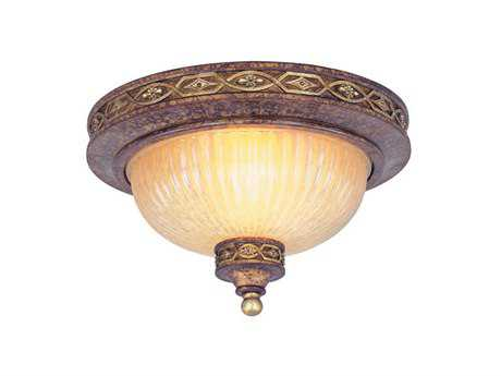Livex Lighting Seville Palacial Bronze Two-Light 11'' Wide Flush Mount Light