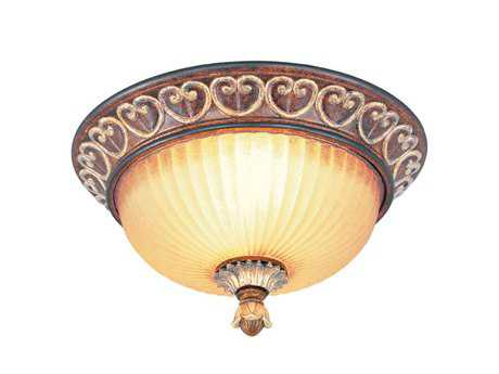 Livex Lighting Villa Verona Bronze Two-Light 13'' Wide Flush Mount Light