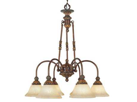 Livex Lighting Sovereign Greek Bronze Six-Light 27'' Wide Chandelier