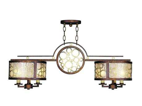 Livex Lighting Avalon Palacial Bronze Two-Light 35.75'' Wide Island Light