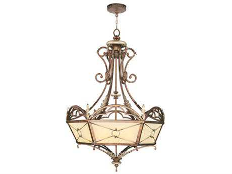 Livex Lighting Bristol Manor Palacial Bronze Four-Light 24.5'' Wide Pendant Light