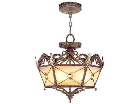 Livex Lighting Bristol Manor Palacial Bronze Three-Light 17.5'' Wide Pendant Light