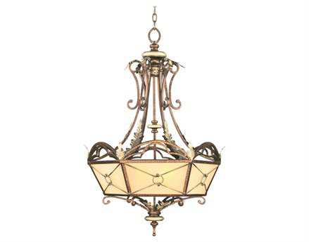 Livex Lighting Bristol Manor Palacial Bronze Six-Light 34'' Wide Pendant Light