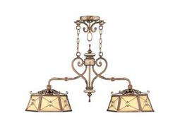 Livex Lighting Bristol Manor Palacial Bronze Two-Light 12'' Wide Island Light