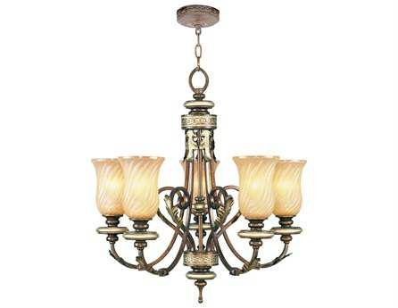 Livex Lighting Bristol Manor Palacial Bronze Five-Light 26'' Wide Chandelier