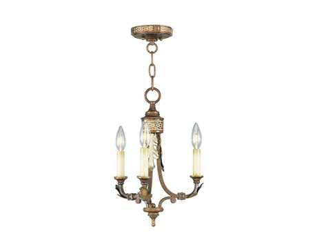 Livex Lighting Bristol Manor Palacial Bronze Three-Light 12'' Wide Chandelier