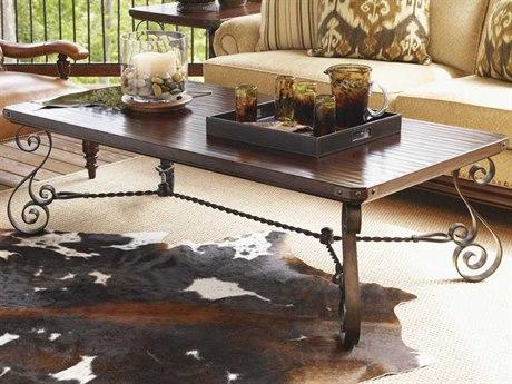Lexington Fieldale Lodge 64 x 34 Rectangular Cocktail Table