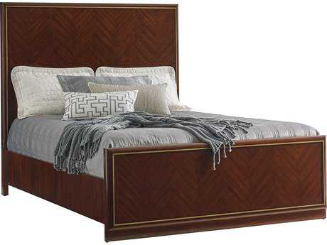 Lexington Take Five Carlyle Zebrano Queen Size Panel Bed