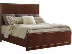 Lexington Take Five Carlyle Zebrano California King Size Panel Bed