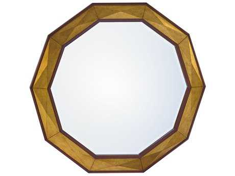 Lexington Take Five Savoy Hand Burnished Gold Leaf 44.5'' Wide Round Wall Mirror