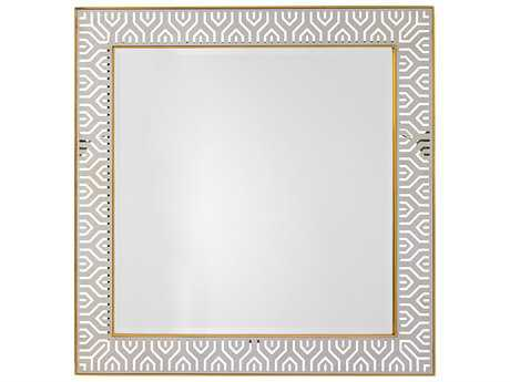 Lexington Take Five Tribeca Stainless Steel & Brass Plated Stainless 40'' Wide Square Wall Mirror