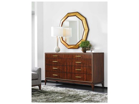 Lexington Take Five Double Dresser with Wall Mirror Set