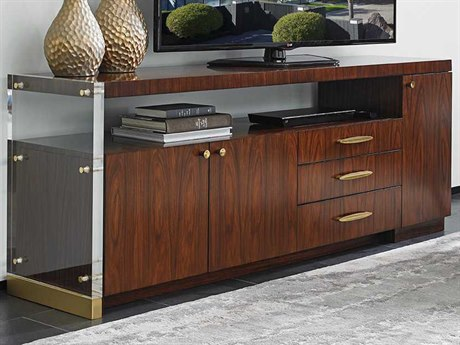 Lexington Take Five Delancy Zebrano & Rosewood 76''L x 18''W Rectangular Media Console