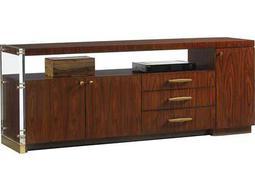 Lexington Take Five Delancy Zebrano & Rosewood 76''L x 18''W Rectangular Media Console
