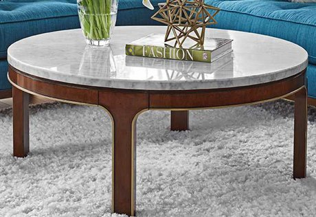 Lexington Take Five Interlude Rosewood 42'' Wide Round Cocktail Table