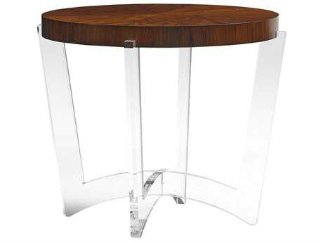 Lexington Take Five Hudon Rosewood with Polished Acrylic 29.5'' Wide Round End Table