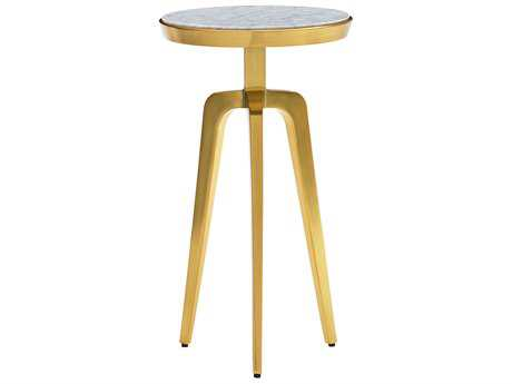Lexington Take Five Interlude Brass Plated Stainless Steel 13'' Wide Round End Table