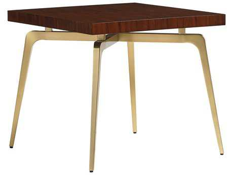 Lexington Take Five Allegro Rosewood with Brass Plated Stainless Steel 27'' Wide Square End Table