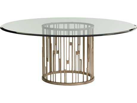 Lexington Shadow Play Rendezvous 72 Round Dining Table with Glass Top