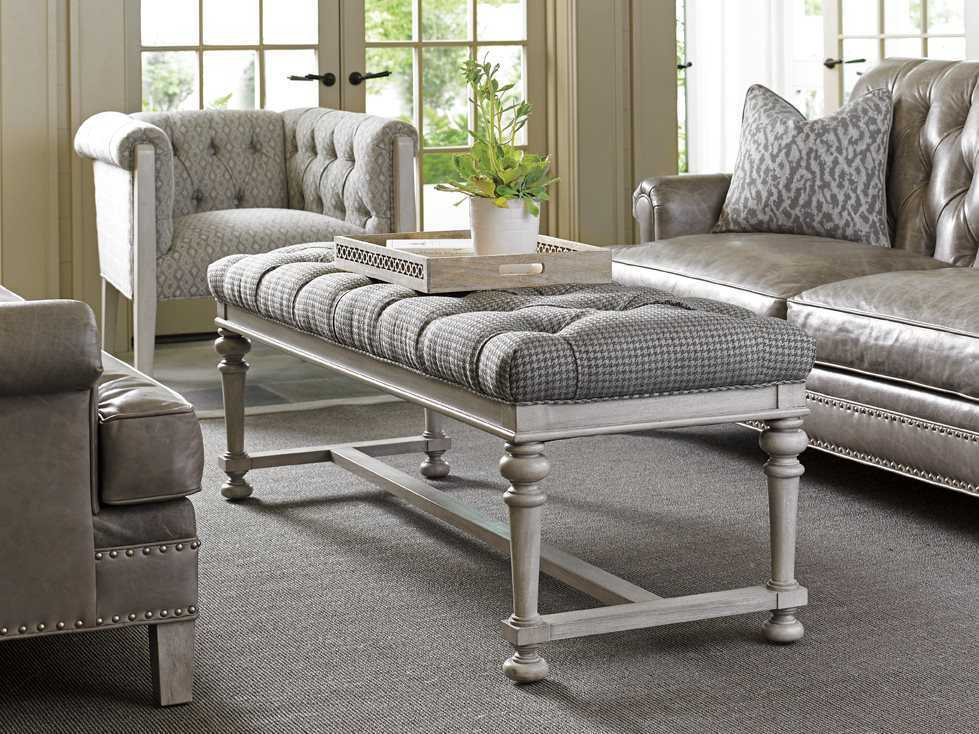Lexington Oyster Bay Tufted Bellport Accent Bench Lx177325