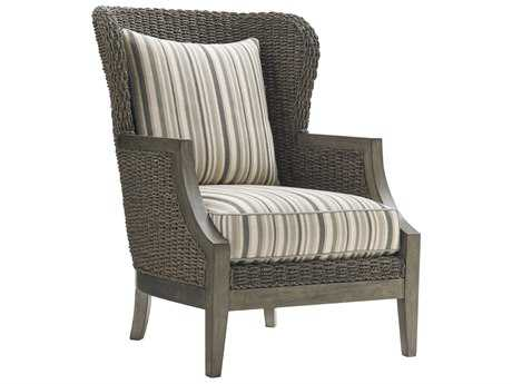 Lexington Oyster Bay Seaford Misty Gray Loose Back Accent Chair