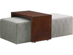 Lexington Take Five Broadway Cocktail Fabric Ottoman with Sliding Tray
