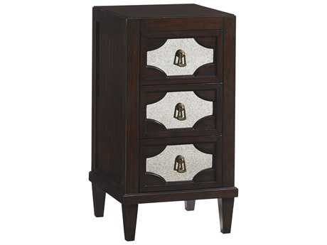 Lexington Kensington Place Oxford Brown 17.5'' Square Lucerne Mirrored Nightstand