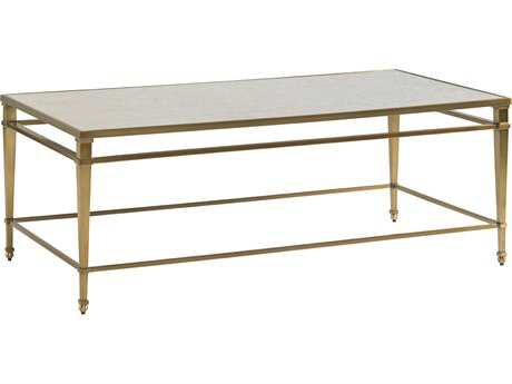 Lexington Kensington Place Oxford Brown 50'' x 26'' Rectangular Millington Metal Cocktail Table