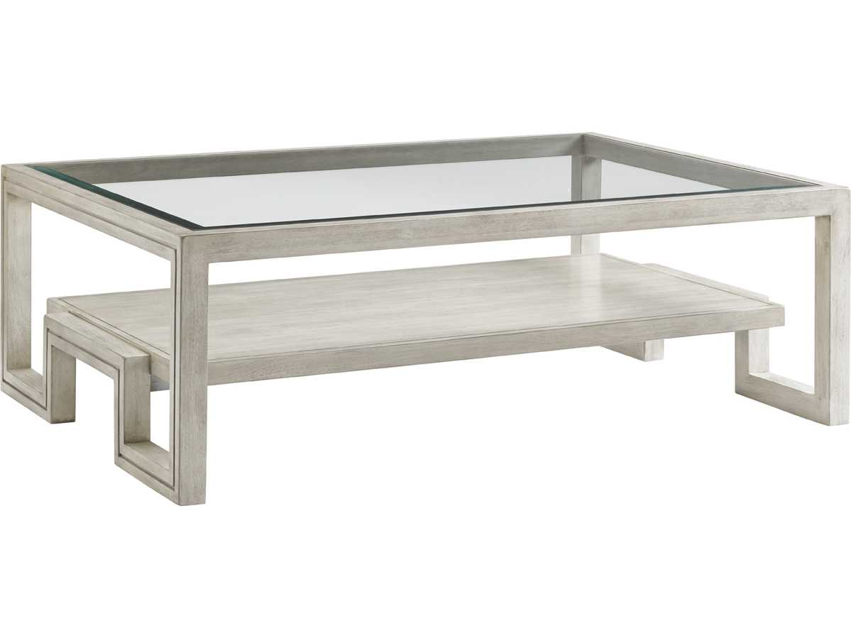 Lexington Oyster Bay 54 39 39 X 38 39 39 Rectangular Saddlebrook Cocktail Table Open Box