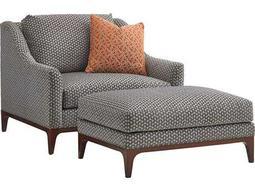 Lexington Take Five Greenstone Loose Back Club Chair with Ottoman Living Room Set