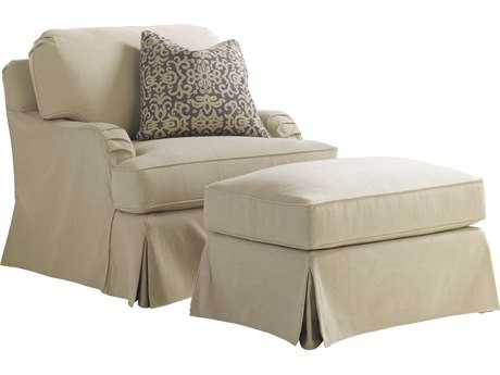Lexington Coventry Hills Stowe Slipcover Khaki Loose Back Club Chair