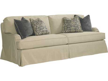 Lexington Coventry Hills Stowe Khaki Slipcover Loose Back Slipcover Sofa