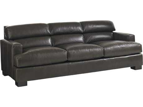 Lexington Carrera Bustle Back Toscana Leather Greystone Sofa