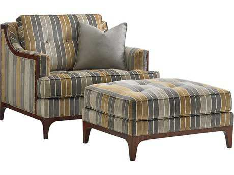 Lexington Take Five Barclay Loose Back Club Chair with Ottoman Set