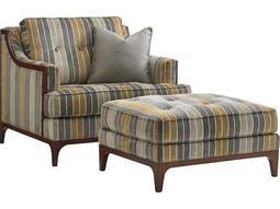 Lexington Take Five Barclay Loose Back Club Chair with Ottoman Set