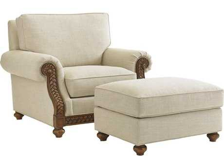 Tommy Bahama Bali Hai Shoreline Loose Back Chair and Ottoman