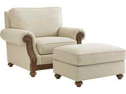 Tommy Bahama Bali Hai Shoreline Loose Back Chair and Ottoman
