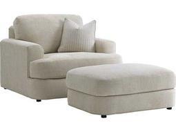Lexington Laurel Canyon Halandale Loose Back Chair and Ottoman Set