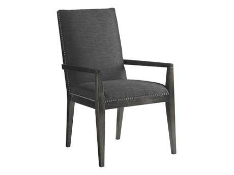 Lexington Carrera Carbon Gray Vantage Upholstered Dining Arm Chair