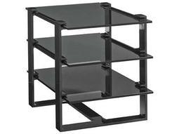 Lexington Carrera Carbon Gray 30'' x 21'' Rectangular Rhodium End Table