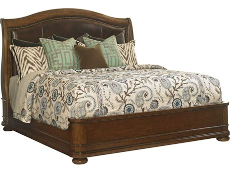 Lexington Coventry Hills Rustic Cherry Chandler Mills King Sleigh Bed