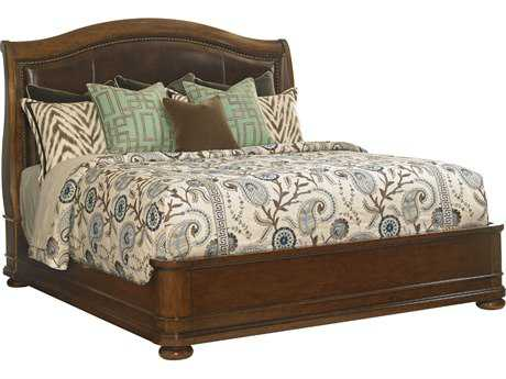 Lexington Coventry Hills Rustic Cherry Chandler Mills California King Sleigh Bed