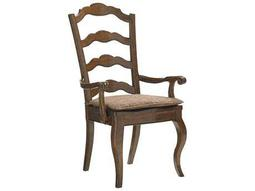 Lexington Coventry Hills Rustic Cherry Princeton Ladder Back Dining Arm Chair