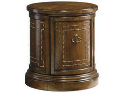 Lexington Coventry Hills Rustic Cherry 23.5'' Round Darien Accent End Table
