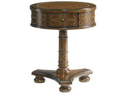 Lexington Coventry Hills Rustic Cherry 20.75'' Round Shelton End Table
